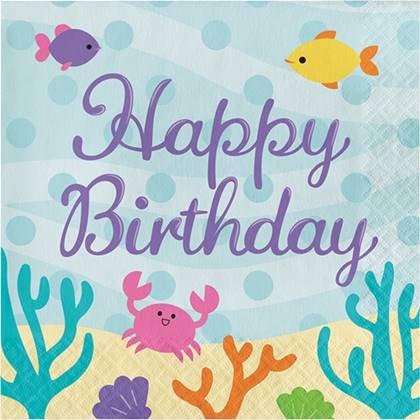 מפיות בת הים יום הולדת שמח 16 יח'