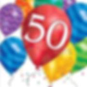 יום הולדת 50 מושלמת! אצלנו תמצאו צלחות יום הולדת 50, כוסות יום הולדת 50, מפיות יום הולדת 50, מפת שולחן יום הולדת 50 ועוד המון דברים שווים!