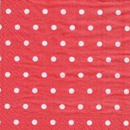 מפיות מנוקדות צבע אדום 50 יח'