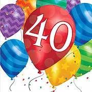 יום הולדת 40 מושלמת! אצלנו תמצאו צלחות יום הולדת 40, כוסות יום הולדת 40, מפיות יום הולדת 40, מפת שולחן יום הולדת 40 ועוד המון דברים שווים!