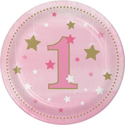 צלחות עוגה קטנות כוכב קטן מנצנץ - גיל שנה 8 יח'