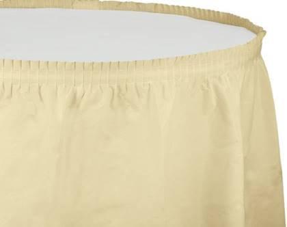 חצאית שולחן שמנת