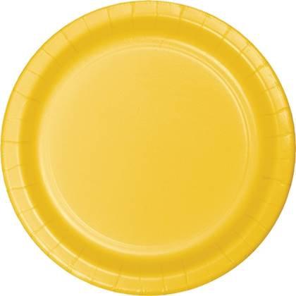 צלחות נייר גדולות חד פעמיות צבע צהוב 20 יח'