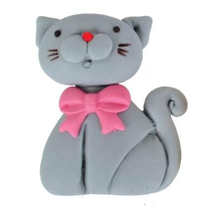 חתול אפור מבצק סוכר