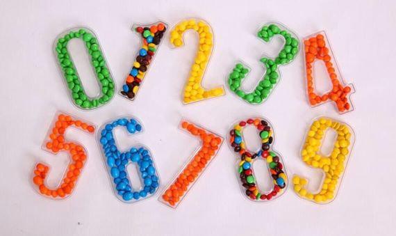 מגש מספרים לממתקים