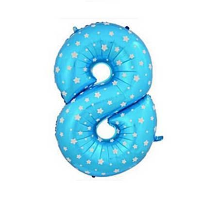 בלון מיילר ספרה 8 צבע כחול