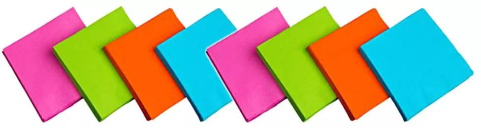 """מפיות וסכו""""ם במגוון צבעים למסיבה מושלמת"""