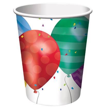 כוסות בלונים 8 יח'
