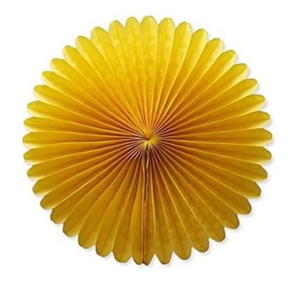 """מניפת נייר 35 ס""""מ צבע צהוב"""
