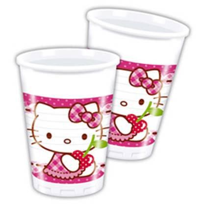 כוסות הלו קיטי 8 יח'