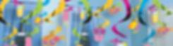 קישוטי תלייה במגוון צבעים למסיבה מושלמת! אצלנו   שרשראות וגרלנדות, בלונים לפי צבע, בלוני מספר תמצאו אהילי נייר, מניפות נייר, כדורי נייר, פונפוני משי, ועוד המון דברים שווים!