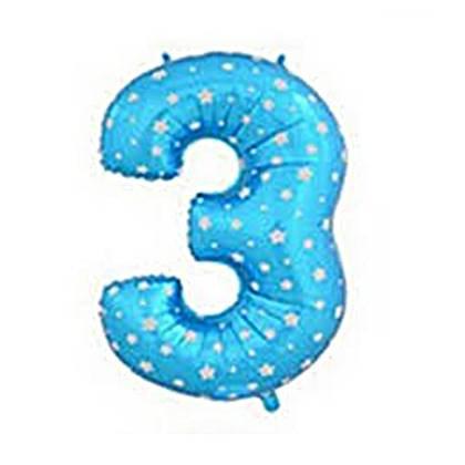 בלון מיילר ספרה 3 צבע כחול