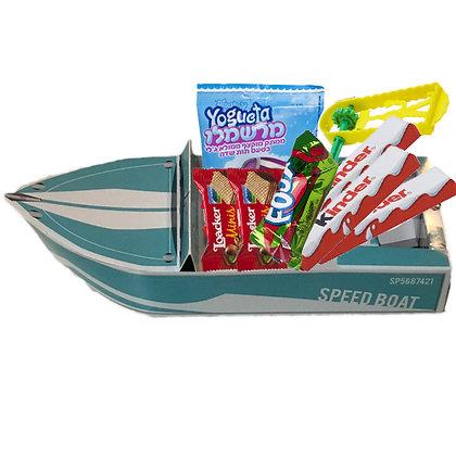 סירות תלת מימד צבע תכלת למשלוח מנות 6 יח'