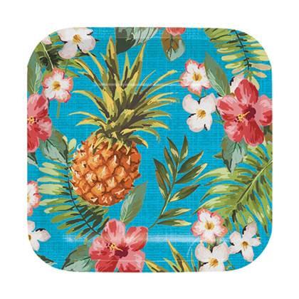 צלחות עוגה קטנות הוואי 8 יח'
