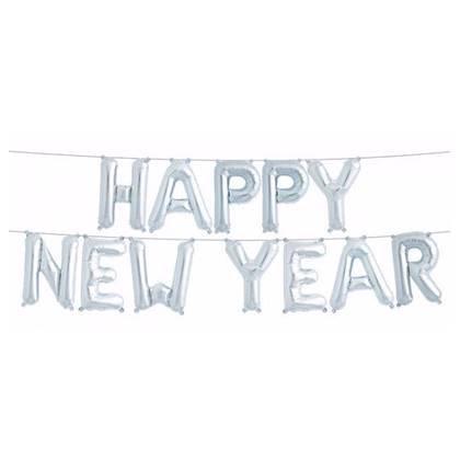 בלוני Happy New Year צבע כסף