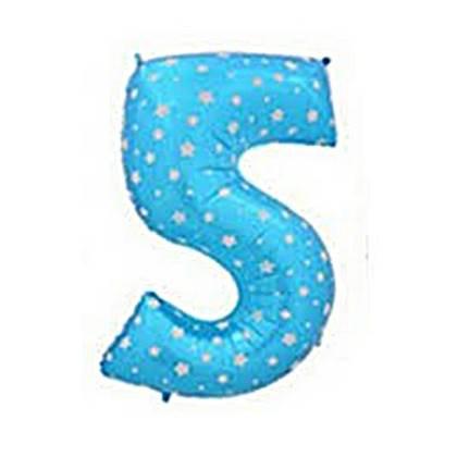 בלון מיילר ספרה 5 צבע כחול