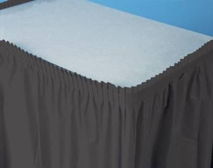 חצאית שולחן שחורה