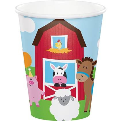 כוסות חוות החיות 8 יח'