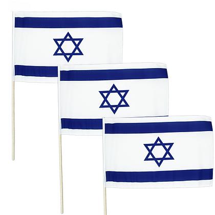 דגל ישראל על מקל 6 יח'
