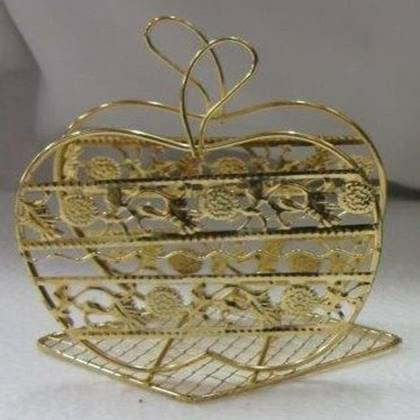 מחזיק מפיות תפוח צבע זהב