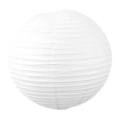 """אהיל נייר קוטר 30 ס""""מ צבע לבן"""