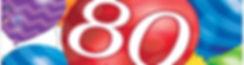 יום הולדת 80 מושלמת! אצלנו תמצאו צלחות יום הולדת 80, כוסות יום הולדת 80, מפיות יום הולדת 80, מפת שולחן יום הולדת 80, אביזרים לימי הולדת, ציוד לימי הולדת