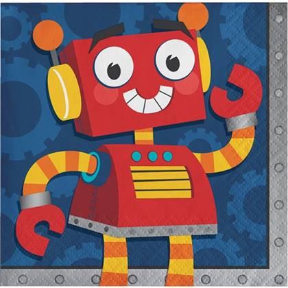 מפיות קטנות רובוטים 16 יח'