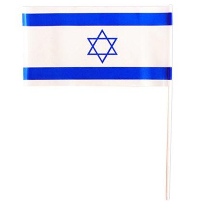 דגל ישראל על מקל פלסטיק 3 יח'