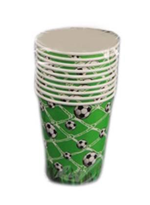 כוסות כדורגל צבע ירוק 10 יח'