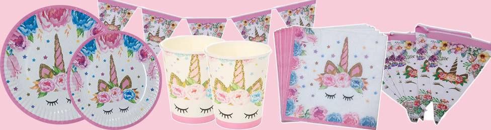 יום הולדת חד קרן קסום מושלמת! אצלנו תמצאו צלחות חד קרן, כוסות חד קרן, מפיות חד קרן, מפת שולחן חד קרן ועוד המון דברים שווים!