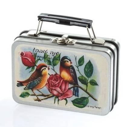 מזוודה שנה טובה דגם ציפורים