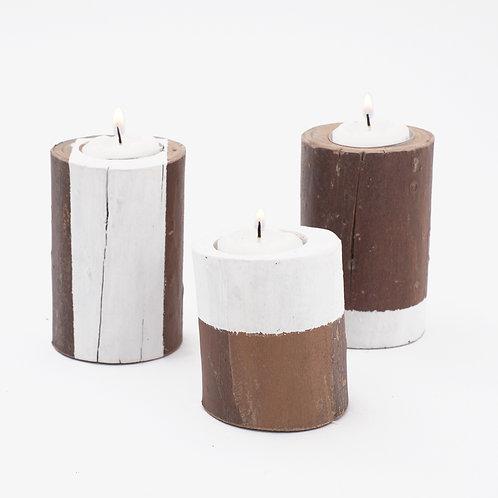 T R I O de velas - White