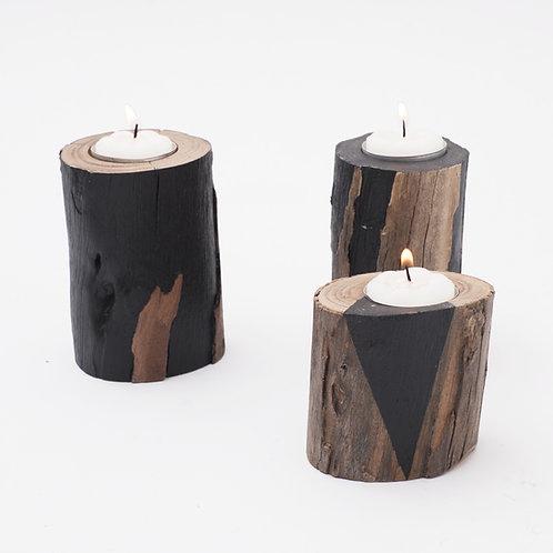 T R I O de velas - Black