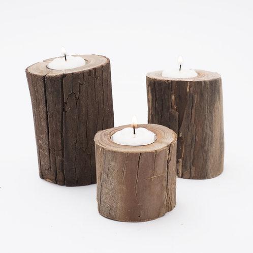 T R I O de velas - natural