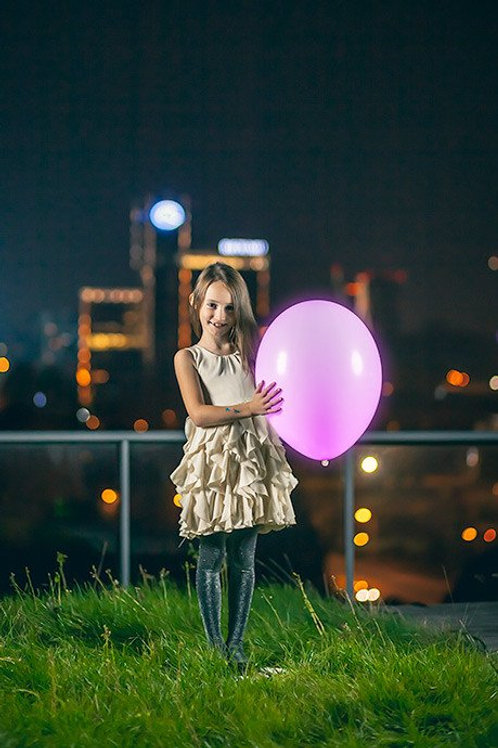 Ballong Med LED Lys (40cm)