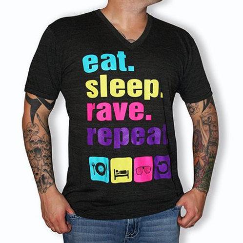 """""""Eat. Sleep. Rave. Repeat."""" T-Skjorte"""