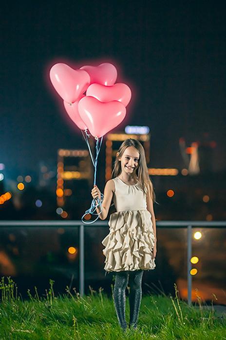 Ballong Med LED Lys (Hjerteformet 30cm)