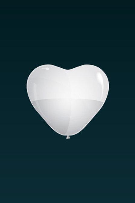 Hjerteformet Ballong Uten LED Lys (30/40/60 cm)