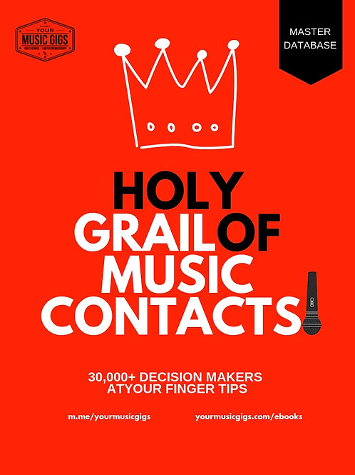 THE HOLY GRAIL of Music Industry Contacts