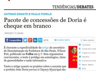 Pacote privatizante de Dória é cheque em branco!