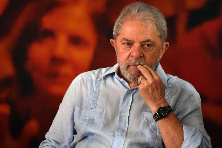 Lula em imagem de janeiro de 2018, durante evento da CUT em São Paulo  -  Nelson Almeida/AFP