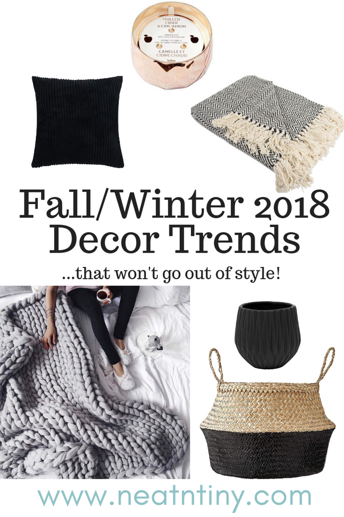 Fall & Winter Decor Trends for 2018 that Won't Go Out of Style
