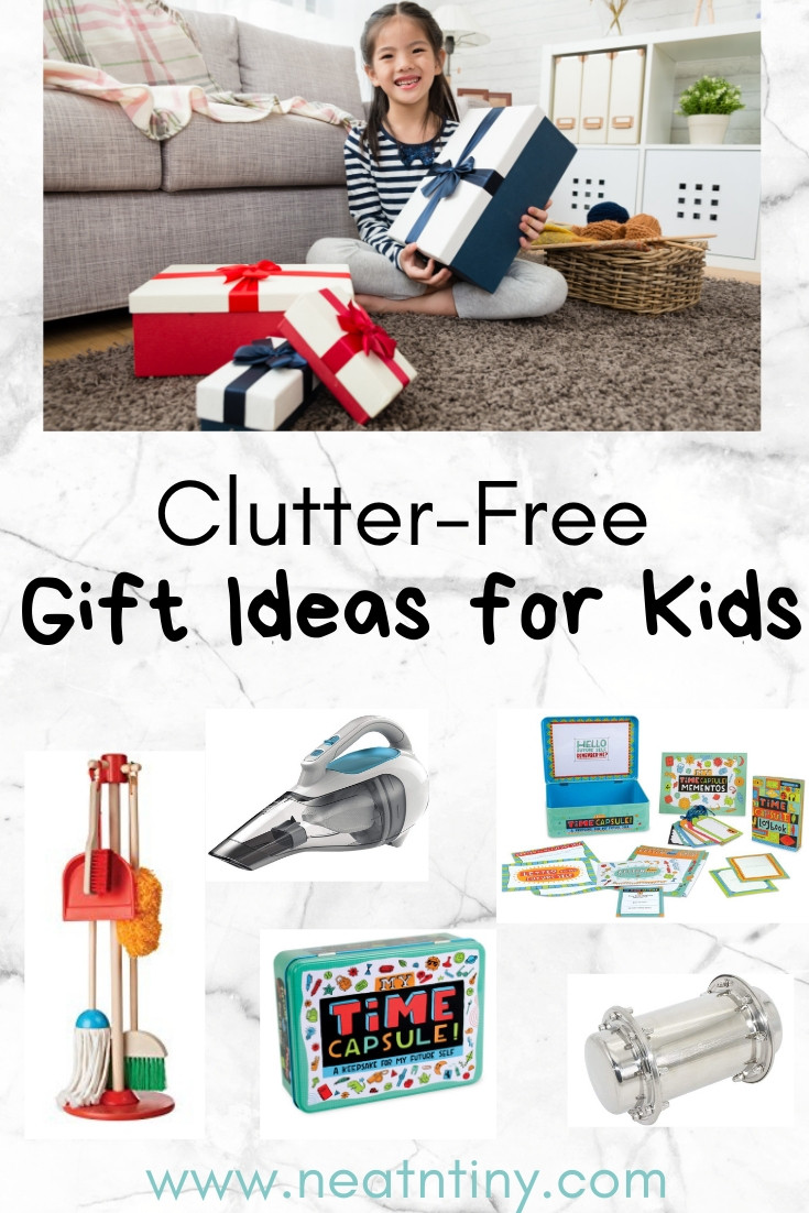 clutter free gift ideas for kids