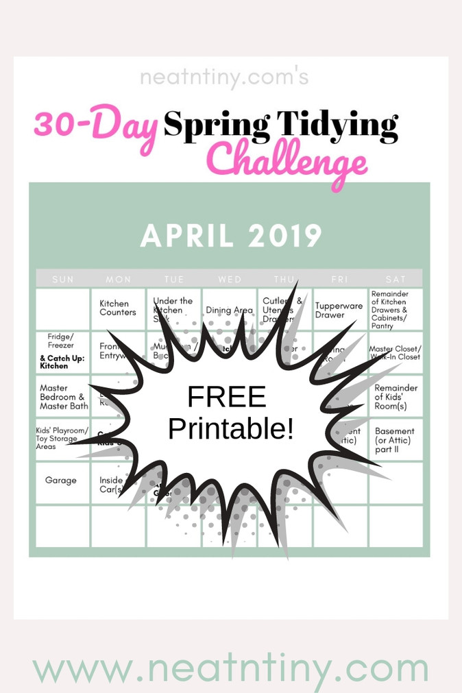 30-Day Spring Tidying Challenge - Join Now!