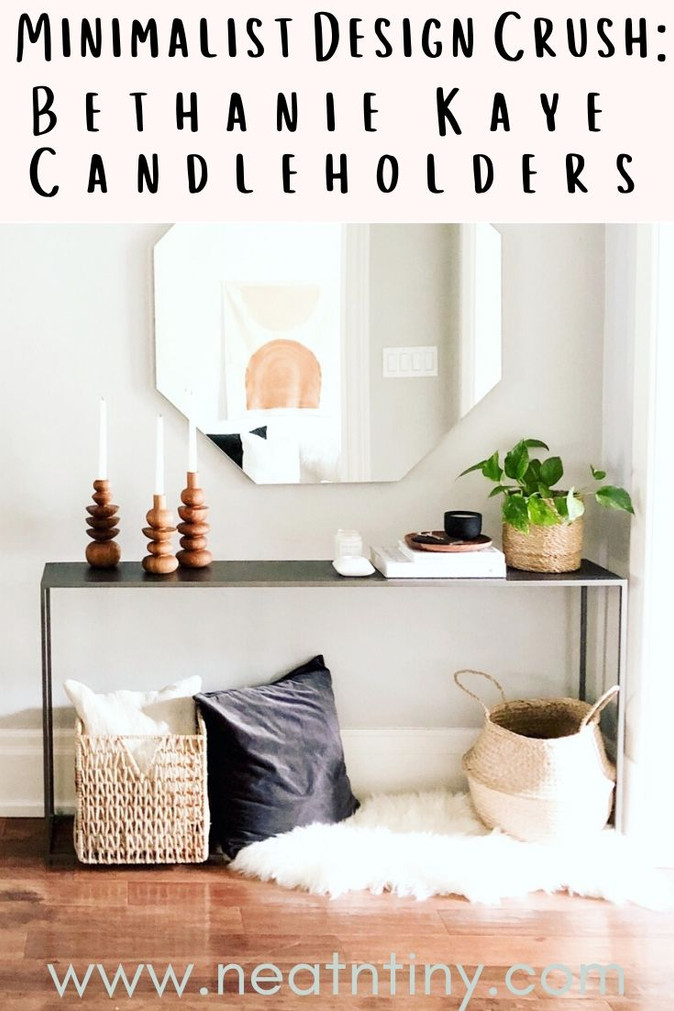Minimalist Design Crush: Hand-Turned Candleholders by Bethanie Kaye