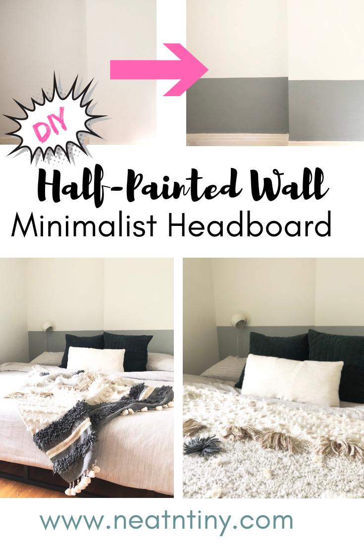 color block wall headboard