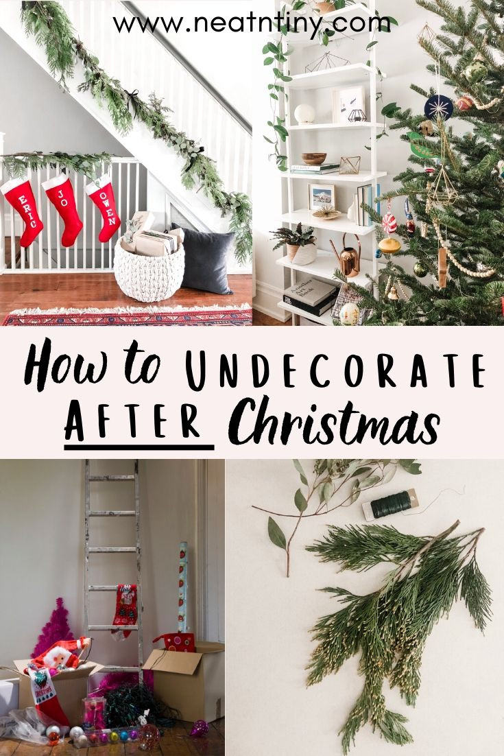 how to undecorate after christmas