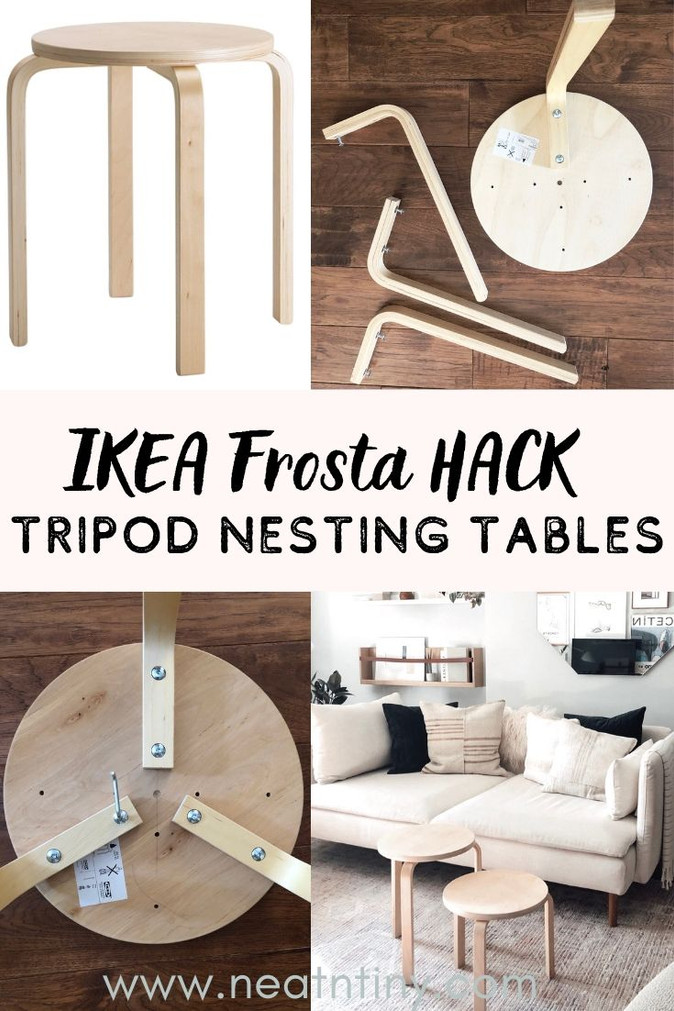 Ikea Frosta Hack: Tripod Nesting Tables