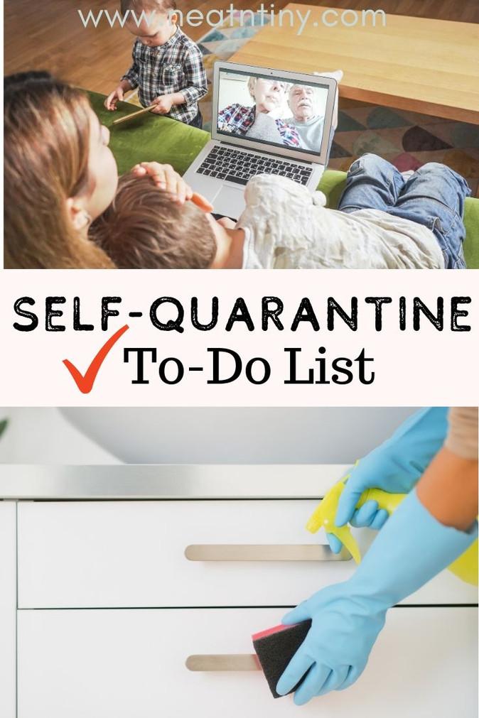 Self-Quarantine To-Do List