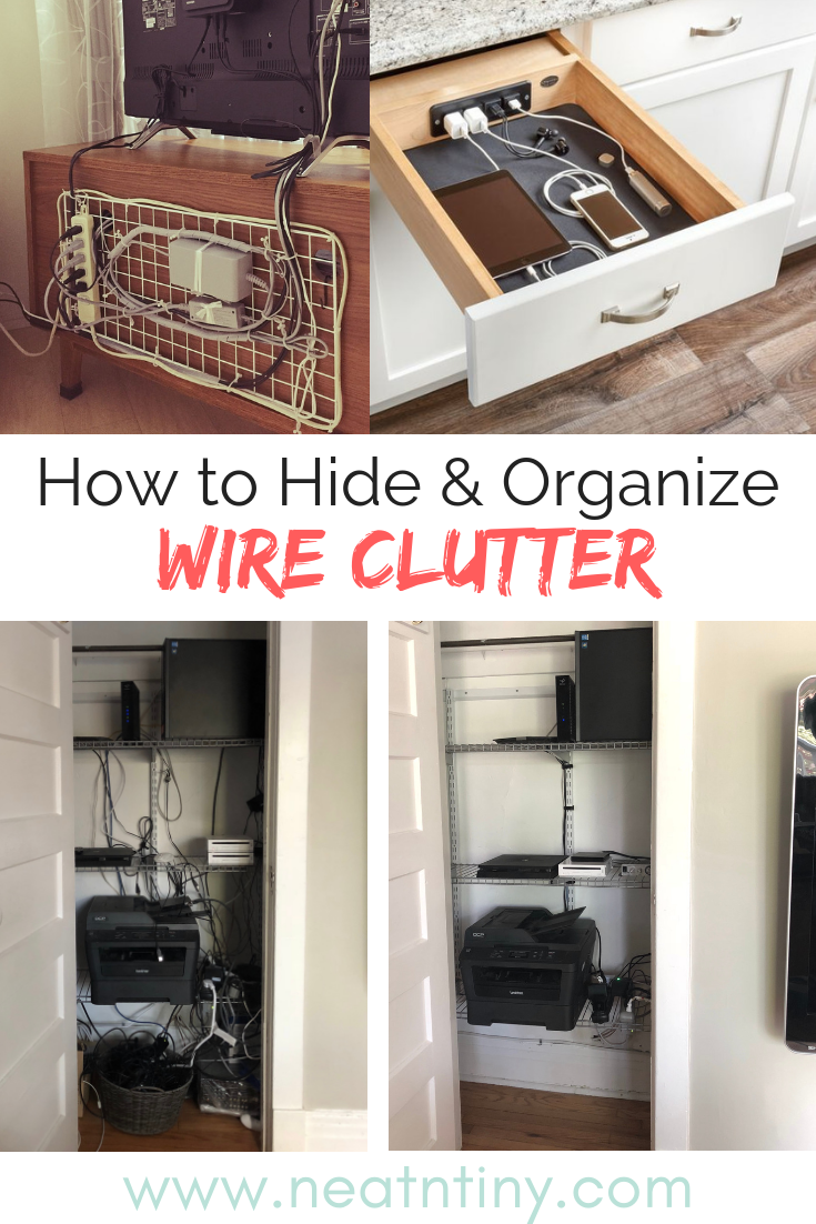 how to organize wire clutter
